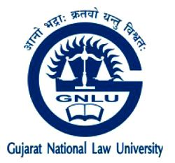 Gujarat National Law University Logo