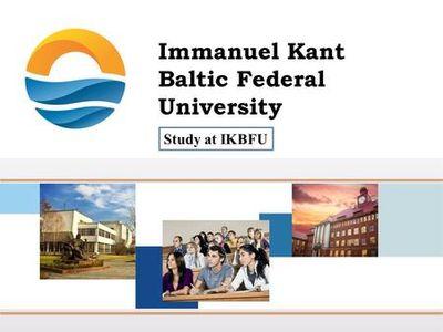 Baltic Federal University named after Emmanuel  Kant Logo